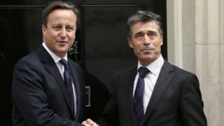 David Cameron meets Nato secretary general Anders Fogh Rasmussen earlier this month