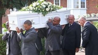 Sabrina Moss' funeral