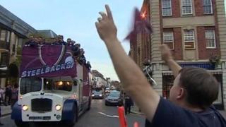 Bus parade in Northampton