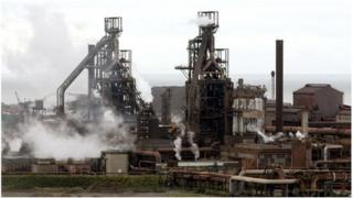 Tata steelworks at Port Talbot
