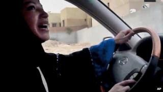 A Saudi woman driving as part of a campaign against the ban on women drivers in 2011