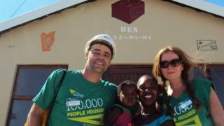 Kitty and Warren along with a Kenyan mother and child