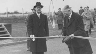 Tees Dock was officially opened by Sir William Worsley
