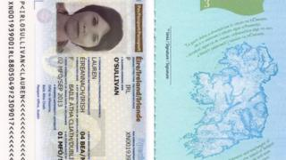 The new-look passport shows a topographical map of Ireland