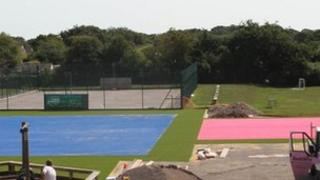 The new pitches at Hordle C of E Primary School