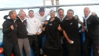 The eight medics took 13 hours to cross the English Channel