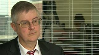 Health Minister Mark Drakeford held a pre-recorded interview