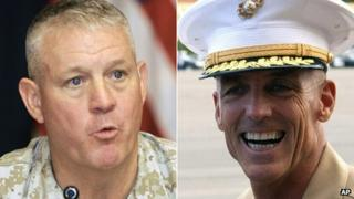 Maj Gen Charles Gurganus and Maj Gen Gregg A Sturdevant