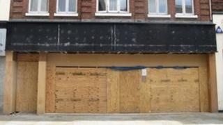 empty shop front