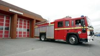 Fire engine in Salford