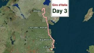 The third day will see the cyclists make their way to Dublin after starting in Armagh