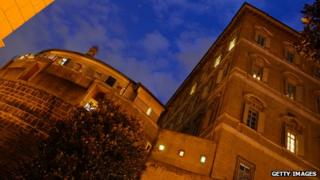 The headquarters of the Institute for Religious Works (IOR) the Vatican's bank