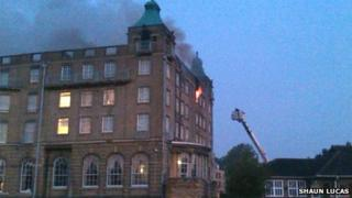 De Vere University Arms fire