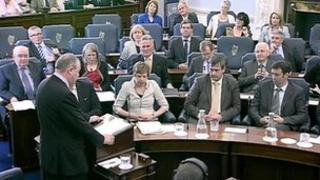 Drew Nelson addressing the Seanad