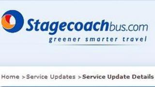 Stagecoach Bluebird website