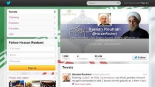 Hassan Rouhani's Twitter page