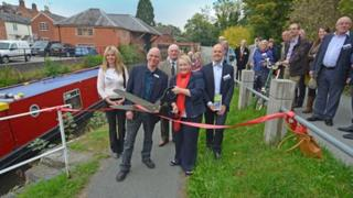 The canal towpath opening