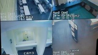CCTV cameras at the Isle of Man's prison