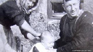 Norman Gillies as a baby on St Kilda