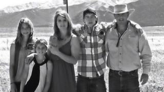 A 2012 photo of the Johnson family