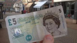 Fiver on the high street