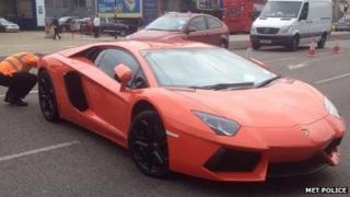 Lamborghini seized by police