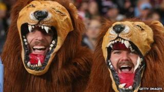 British & Irish Lions supporters enjoy the atmosphere in Sydney
