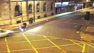 CCTV footage of the hit-and-run in John Dalton Street, Manchester