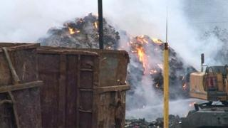 Waste fire at Cawleys in Wellingborough