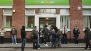 Job centre with claimants