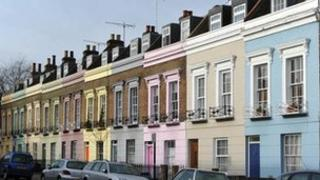 A row of terraced houses in Camden