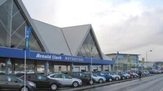 Arnold Clark dealership in Inverness