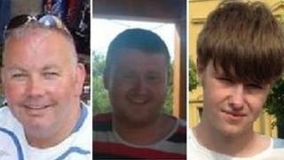 L to R: Michael Harrison, Jamie Edmondson and Todd Ridley