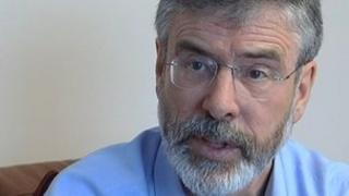Gerry Adams testified at his younger brother's first trial