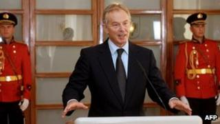 Tony Blair in Tirana