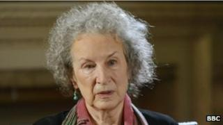 Canadian writer Margaret Atwood on 27 August 2013