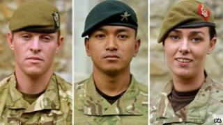 Cpl Griffiths, A/Cpl Gurung and L/Cpl Hughes