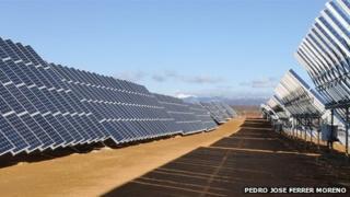 solar power plant, la robla in leon