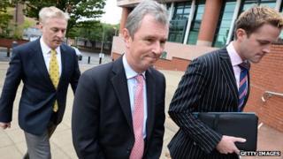 Nigel Evans MP arriving at Preston Magistrates' Court on Friday 4 October