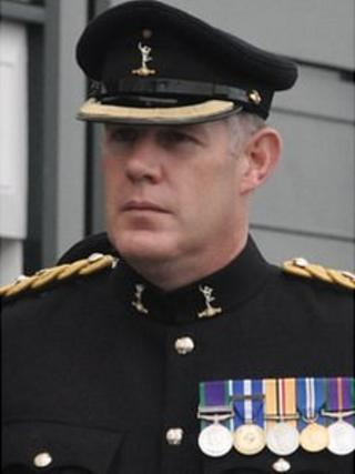 Lt Col Colin Vaudin in the 2012 Liberation Day parade