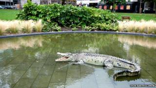 Fibreglass crocodile