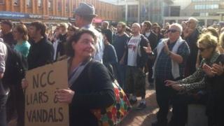 Protest Casnewydd
