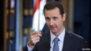 Syrian President Bashar al-Assad. Photo: 4 October 2013