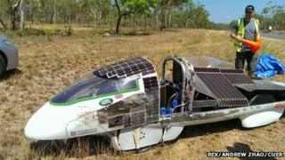 Solar car Resolution after crashing in Australia