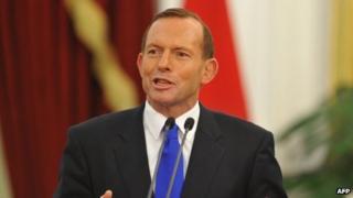 Tony Abbott, in file image from 30 September 2013