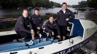 Captain James Kayll, Cayle Royce, Scott Blaney and Mark Jenkins, from the Row2Recovery team