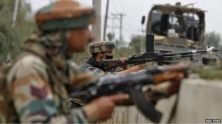 File photo of Indian army soldiers in Kashmir