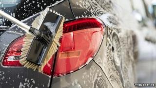 Generic image of car being washed