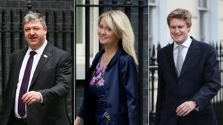 Alistair Carmichael, Esther McVey and Tristram Hunt