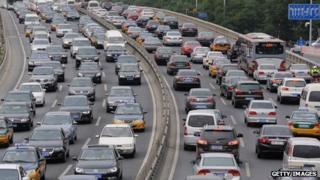 Traffic in Beijing. September 2013